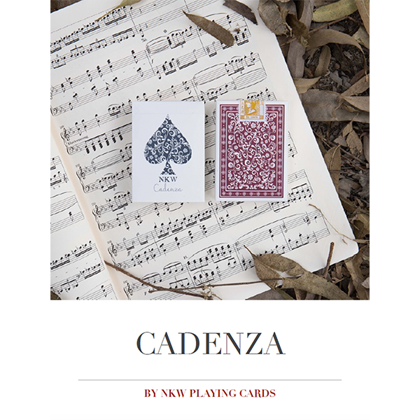 Purchase the full e-book by NKW Playing Cards, explaining all features of Cadenza and routines you can perform with the special gaff cards.