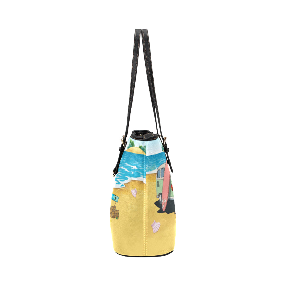 Boston Terrier Beach Tote Bag