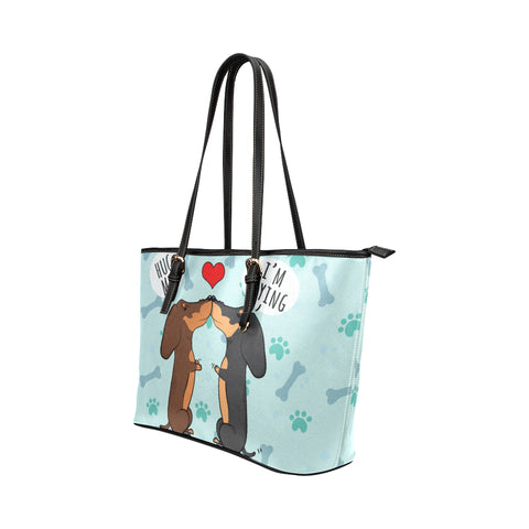 Dachshund Kiss Tote Bag