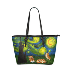Corgi night Tote Bag