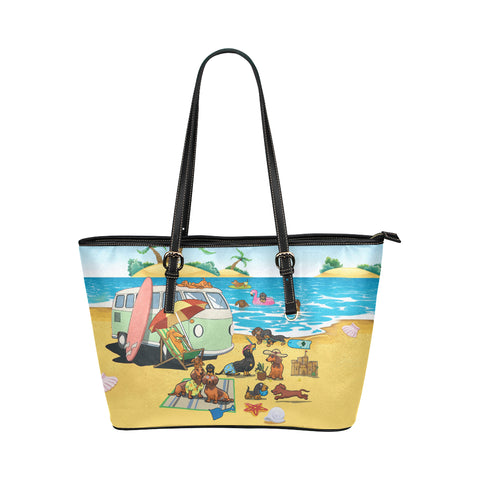 Image of Dachshund Beach Tote bag