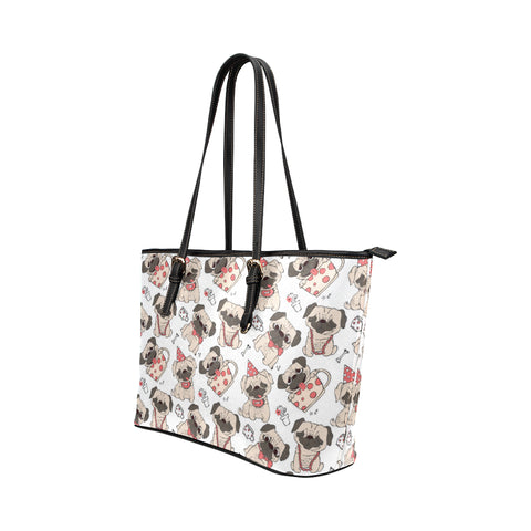 Image of Pug Love Tote Bags