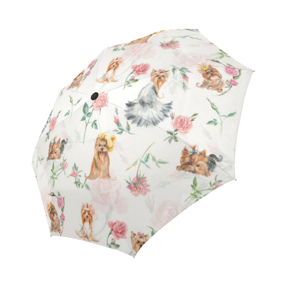 Yorkie Flower Umbrella