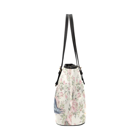 Image of Yorkie Flower Tote Bags 2