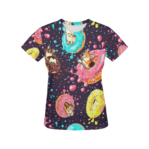 Image of T-shirt Donut Corgi Print Full