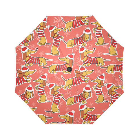 Dachshund Xmas Umbrella