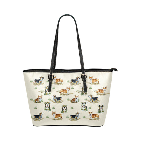 Image of Corgi Vector Tote Bag