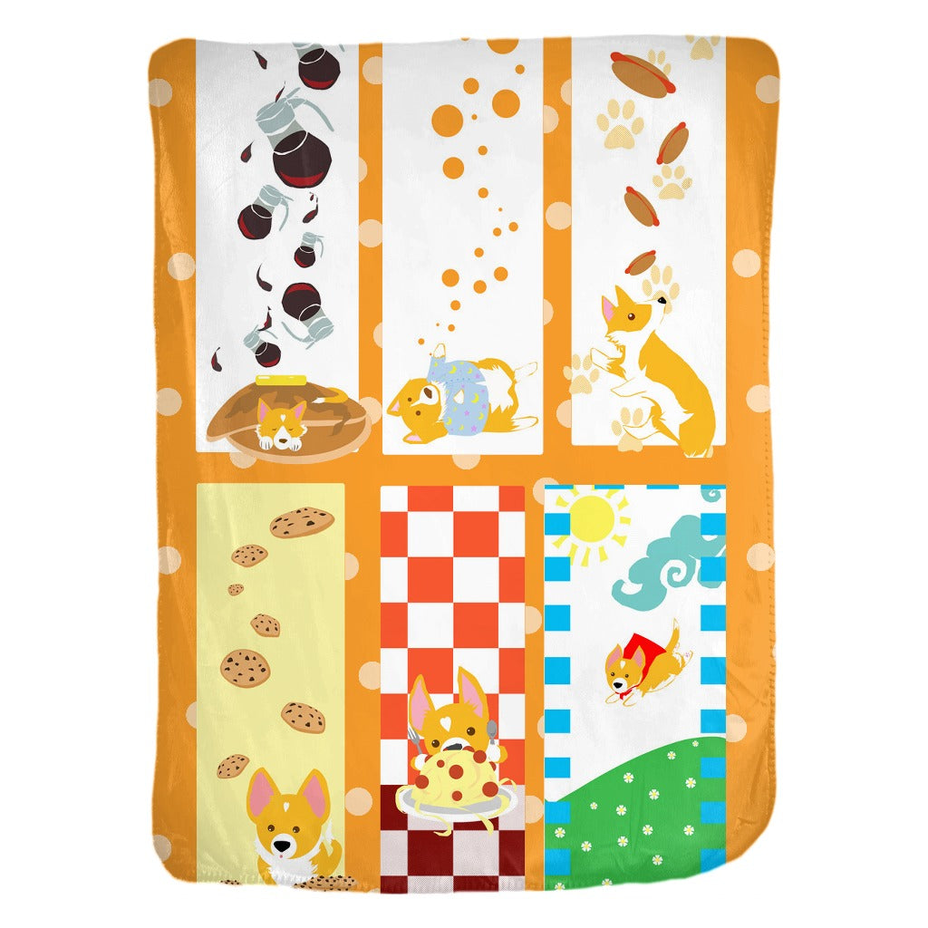 Corgi bookmark velveteen Blanket