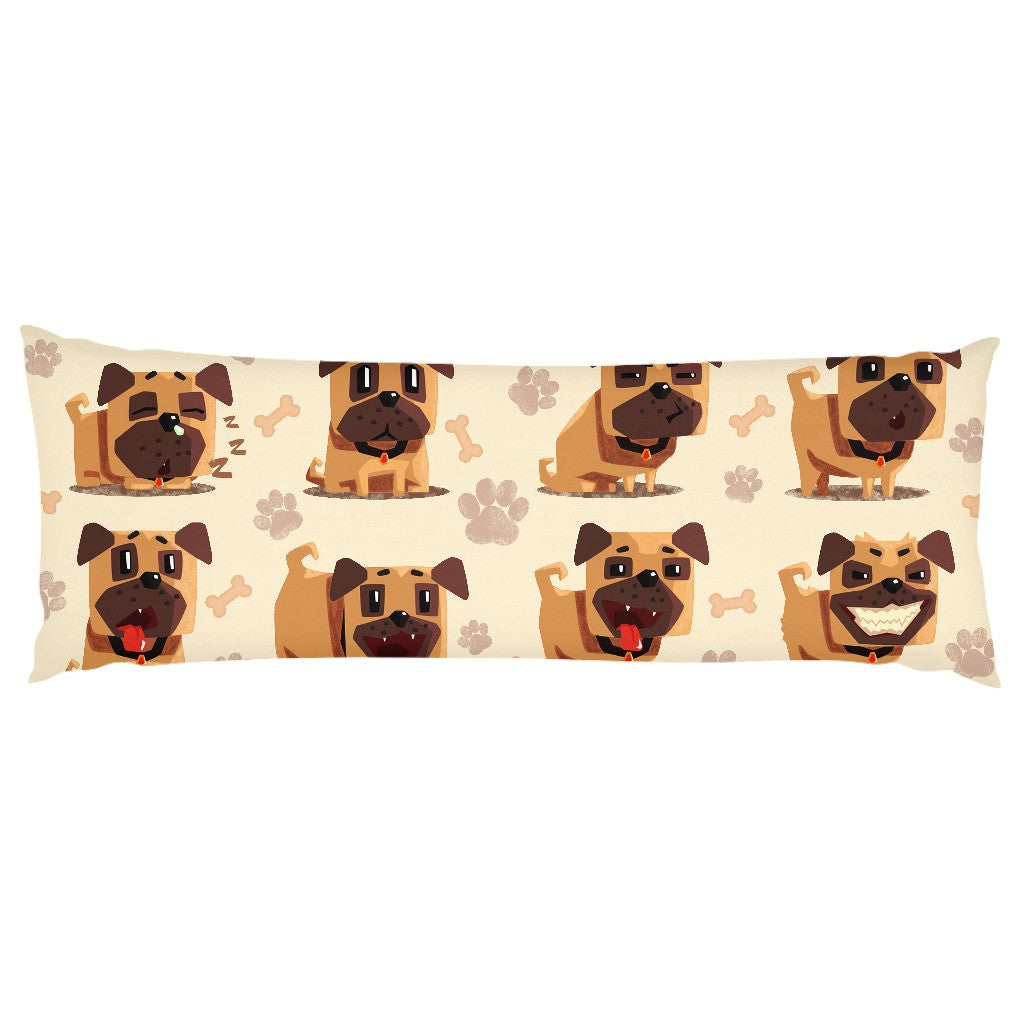 Bulldog emotions Body pillows