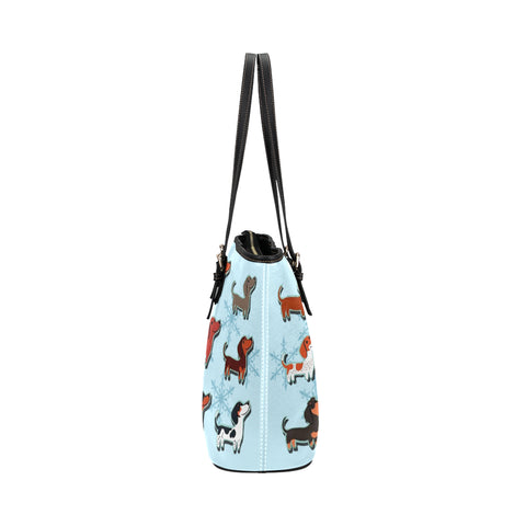 Image of Dachshund snowflakes Tote Bag