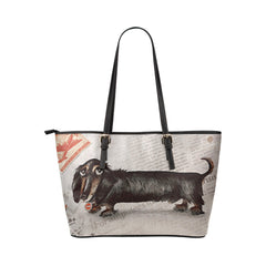 Dachshund newspaper Tote Bag