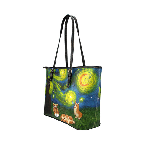 Image of Corgi night Tote Bag