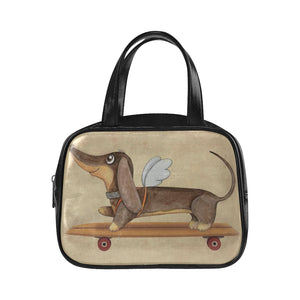 Doxie angel Handle Bag
