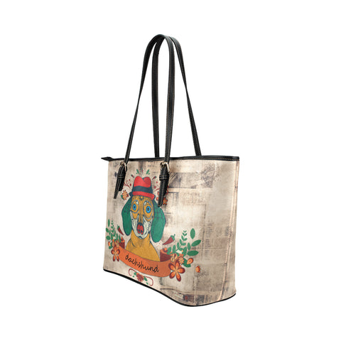 Image of Dachshund Cute 4 Tote Bag