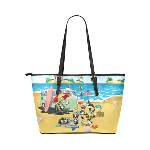 Image of Boston Terrier Beach Tote Bag