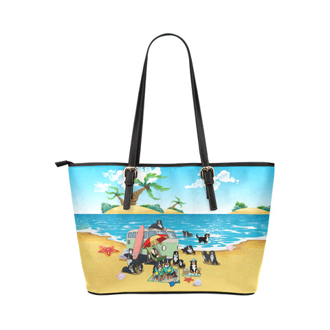 Image of Bernese Mountain Dog Beach Tote Bag