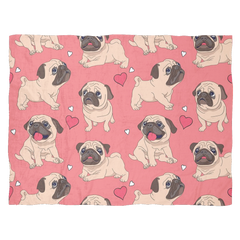 Pug Cute Fleece Blanket