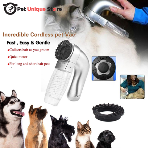 Image of Pet Electric Vac Hair Remover Supply Grooming Clean