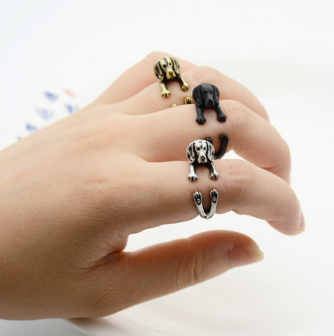 2017 New retro punk free size Labrador retriever Ring