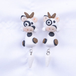 3D Cute Cow Earrings For You