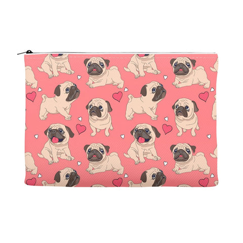 Image of Pug Love Accessory Pouches