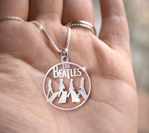 Image of The Beatles Handmade Sterling Silver Necklace Pre-Order