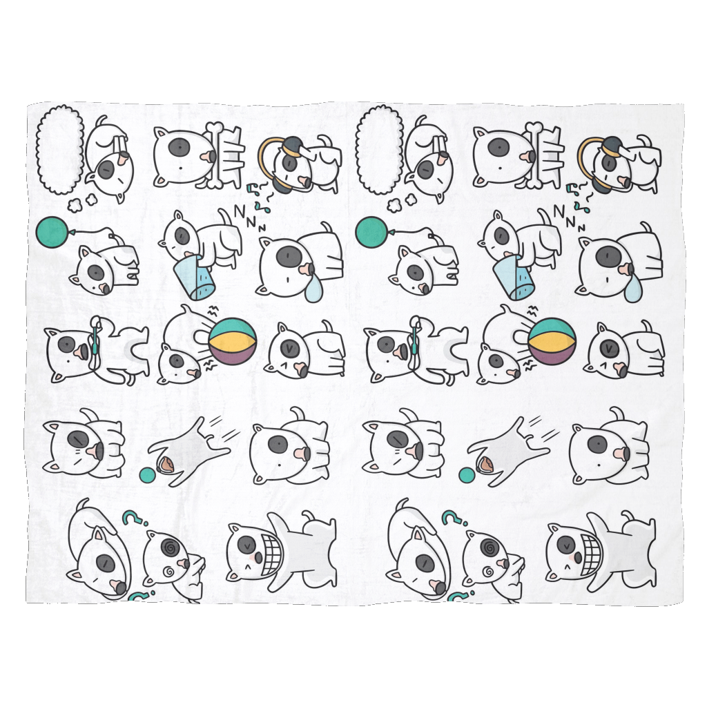 Bull Terrier emotions Blanket