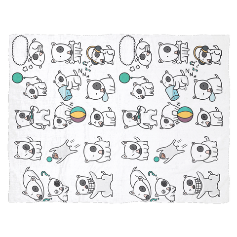 Image of Bull Terrier emotions Blanket