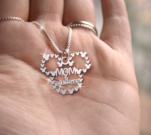 Mom & Daughter Handmade Sterling Silver Necklace