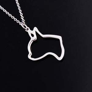 Boston Terrier dog necklace for women jewelry stainless steel