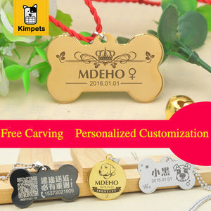 Engraving Personalized Pet Tag Identification Customized Dog Tag The Name Phone