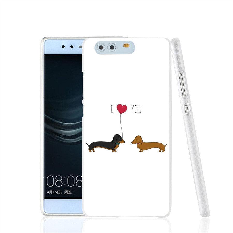 Love you dachshund phone Cover Case for huawei Ascen