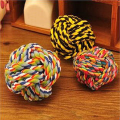 New Pet cotton ball dog toy Knitted Ball puppy Cat