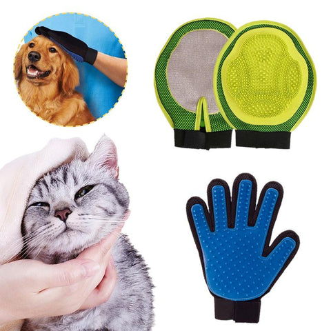 Pet Cat Massage Grooming Cleaning Brush Magic Five Finger Glove