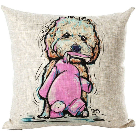 Image of Pug Dog Cushion Cover Decorative Throw Pillows Colorul French BullDog