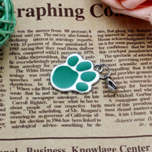 Pet Jewelry Cat dog collar pendant tags Pawprint Necklace Collar Puppy