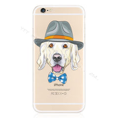 Design Pattern Pet Dog Soft Silicon Phone Cover Cases For Apple iPhone