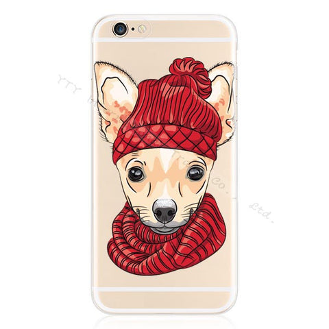 Image of Design Pattern Pet Dog Soft Silicon Phone Cover Cases For Apple iPhone