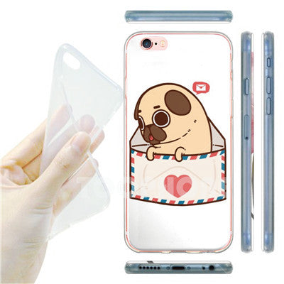 Image of Phone Case Back Cover for iPhone Super Cute Bulldog Corgi Poodle Dog Pattern