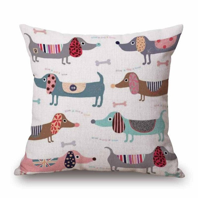 Sausage dog Pillow Cases Bedroom Sofa Decoration
