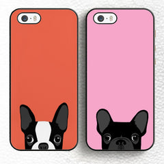 Boston Terrier Soft Rubber Mobile Phone Case OEM For iPhone