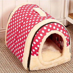 Dog House Nest With Mat Foldable Pet Dog Bed Cat Bed House