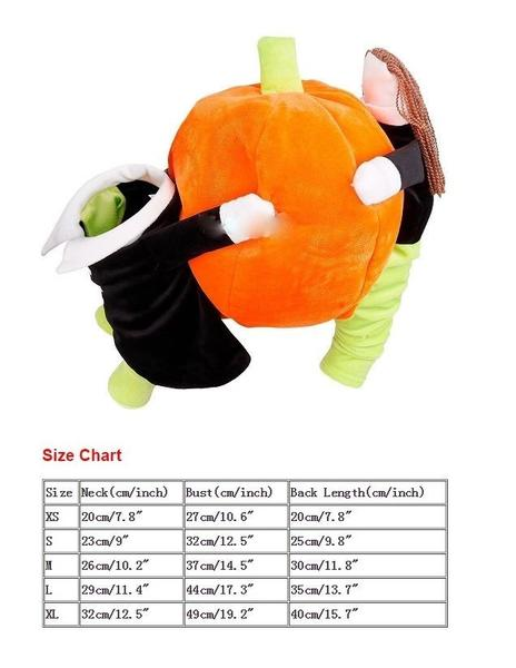 Super Whimsy Funny Halloween Pumpkins Clothes For Pet