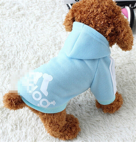 2017 New Autumn Winter Pet Products Dog Clothes Pets Coats Soft Cotton Dog Hoodies Clothing For Puppy Dogs 7 colors XS-2XL PD212