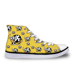 3D Animals Puzzle Printed High-top Shoes