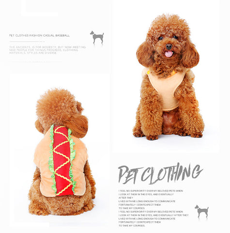 Image of Funny Halloween pet Sausage costume clothes