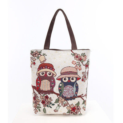 Cartoon cute fashion women's shoulder bag The owl leisure and travel bag for lady