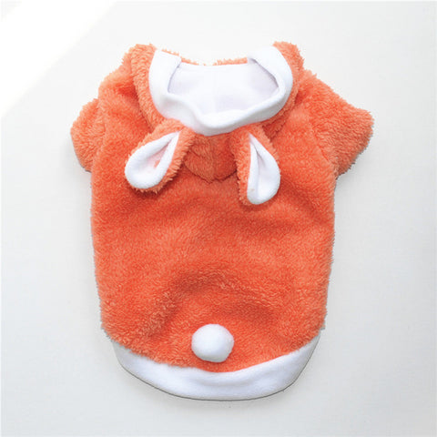 Warm Cute Cat Clothes Easter Rabbit Animals Suit Clothing windproof Pet Product Cute Bunny cotton suit  For Cat Winter Shipping