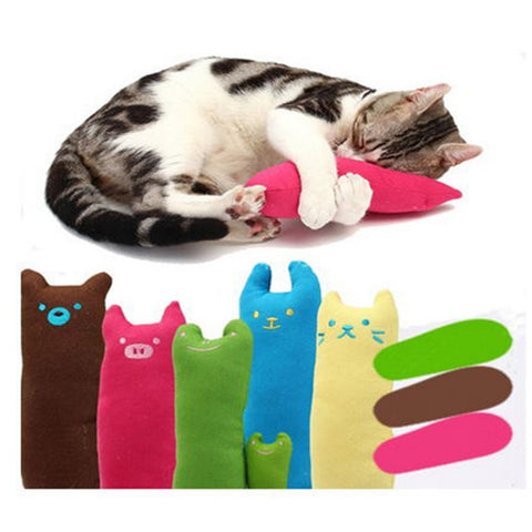 Popular High Quanlity Cute Interactive Fancy Pets Teeth Grinding Catnip Toys Claws Thumb Bite Cat Mint Scratcher For Cats