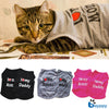 "Image of ""I LOVE MY MOM"" Design Summer Pets Puppy Small Dog Cat Pet Kitten Clothes Vest Lovely Pet T-Shirt Apparel Costumes 3 Colors"